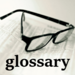 glossary button